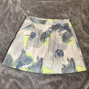 Theory Valros Watercolor Mini Skirt Size 0